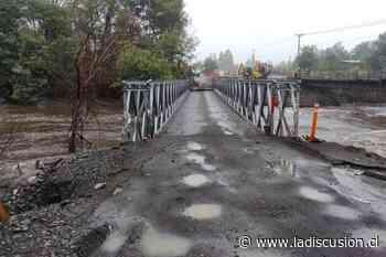 Colapsa puente provisorio que une a Yungay y Campanario producto de las lluvias - La Discusión