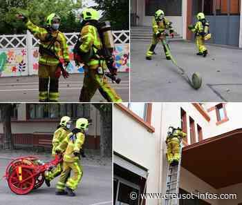 MONTCHANIN : Les pompiers en intervention à l'école Serge Boutavant, pour un exercice XXXXL (1) - Creusot-infos.com