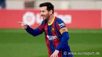 Lionel Messi einigt sich offenbar mit dem FC Barcelona auf eine Vertragsverlängerung - Eurosport DE
