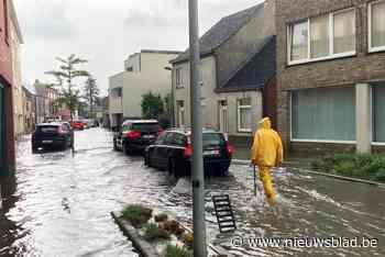 Onweer boven West-Limburg: straten onder water in Beringen en Tessenderlo