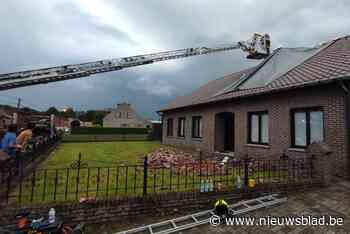 Huis in Eksel zwaar beschadigd door blikseminslag