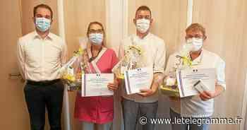 Trois salariés de l'Ehpad de Plabennec décorés de la médaille du travail - Le Télégramme