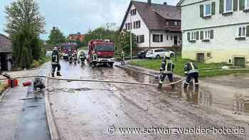 Gewitterregen in Oberlengenhardt - Hauptstraße, Garagen und Keller überflutet - Schwarzwälder Bote