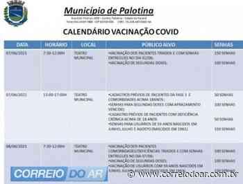 Palotina vai iniciar na segunda-feira a vacinação para pessoas com 59 anos - Correio do Ar