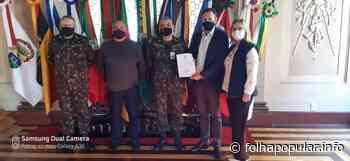 Prefeito de Arroio do Meio recebe posse da Junta Militar - Folha Popular