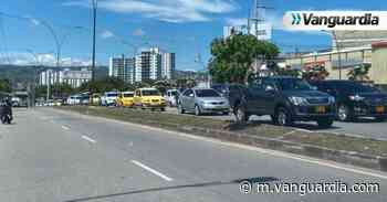 Reportan congestión en la autopista a Floridablanca por protesta - Vanguardia