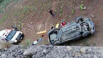 5 lesionados tras volcadura de auto en carretera tramo Las Varas-Guayabitos - El Sol de Nayarit