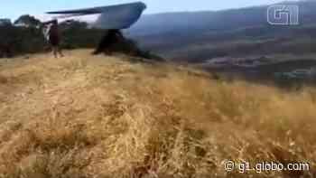 Acidente com asa-delta deixa piloto ferido em Formosa; vídeo - G1