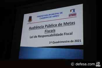 Prefeitura apresenta resultado da gestão orçamentária e financeira – Casimiro de Abreu - Defesa - Agência de Notícias