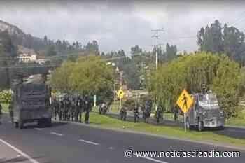 A la fuerza se desbloqueó la vía entre Tocancipá y Gachancipá - Noticias Día a Día