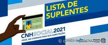 Detran ES divulga lista de suplentes do CNH Social - Colatina em Ação