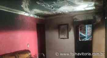 Incêndio atinge casa no município de Colatina - Folha Vitória