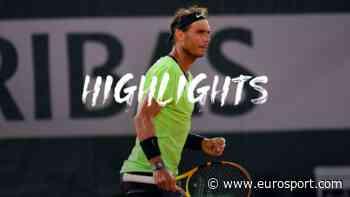 French Open tennis - Highlights: Rafael Nadal overpowers Richard Gasquet to progress on his birthday - Eurosport COM