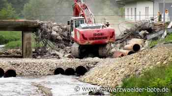 Das Ende nach 62 Jahren - Glattbrücke in Sulz-Hopfau verschwindet - Schwarzwälder Bote