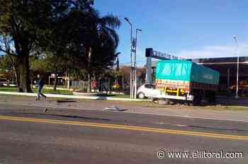 Choque múltiple en el acceso sur de la ciudad de San Justo - El Litoral