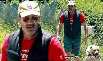 Jon Hamm, 50, wears his aviator sunglasses from Top Gun: Maverick - Daily Mail