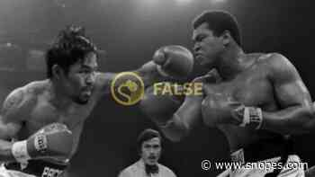 Did Muhammad Ali Ever Fight Manny Pacquiao? - Snopes.com