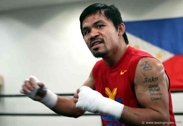 Manny Pacquiao Begins Training For Errol Spence Clash | BoxingInsider.com - BoxingInsider.com
