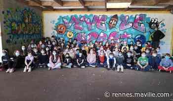 À Noyal-sur-Vilaine, un artiste du street art tague avec des élèves - maville.com