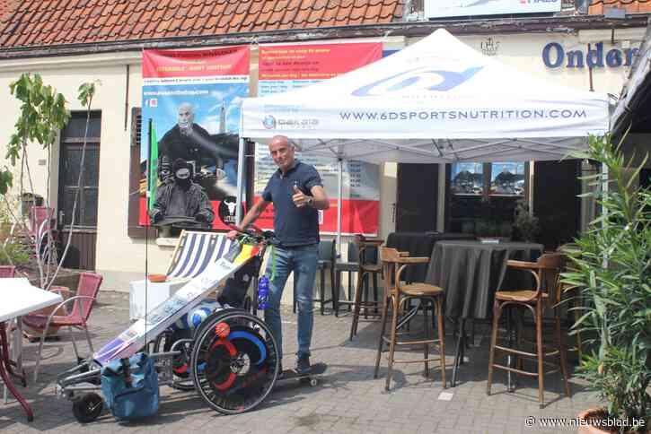 Nog één laatste krachttoer: ultraloper Serge (55) duwt Samuel (18) in zijn rolstoel van Vlaanderen helemaal naar de top van de Mont Ventoux