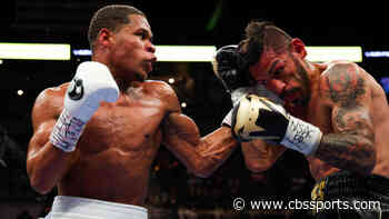 Devin Haney survives late flurry from Jorge Linares, scores decision win to retain lightweight title - CBS Sports