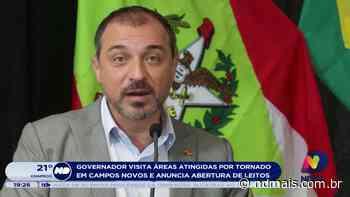 Governador visita áreas atingidas por tornado em Campos Novos e anuncia abertura de leitos - ND Mais