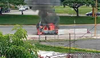 Vehículo se incendió en distribuidor de la Av. Aranzazu de Valencia - El Carabobeño