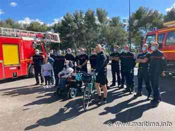 Un pompier parcourt à vélo Paris-Port de Bouc pour récolter des fonds pour son cousin handicapé - Fos sur Mer - Société - Maritima.info