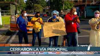 Comité del centro de salud de Pedregal protesta, piden más médicos - Telemetro