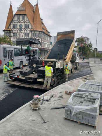Nova Ponte do Centro é pavimentada nesta sexta-feira, dia 4 em Blumenau - OCP News