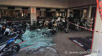 Orzinuovi, furgone-ariete e spaccata notturna alla concessionaria di moto - QuiBrescia.it