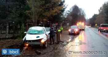 Accidente de tránsito en ruta Villarrica-Lican Ray deja dos lesionados - BioBioChile