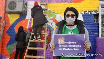 Nuevo mural contra la violencia de género en Monte Grande - El Diario Sur