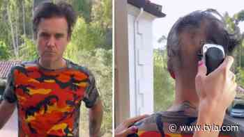 Robbie Williams Looks Unrecognisable After Shaving All His Hair Off - Tyla