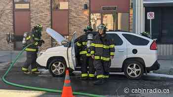 Firefighters called to Pontiac Aztek in downtown Yellowknife - Cabin Radio