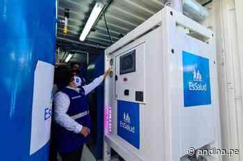 Huaraz cuenta con nueva villa para pacientes covid-19 y dos plantas de oxígeno - Agencia Andina