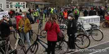 Demonstration - Fahrraddemos in Niederweimar und Marburg - Oberhessische Presse