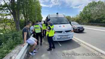 Opération anti-stupéfiants à l'entrée de Carvin, cinq conducteurs positifs - La Voix du Nord