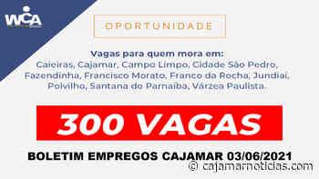 Cajamar tem centenas de vagas de empregos abertas nesta quinta-feira (03) - Cajamar Notícias