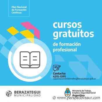 Nueva plataforma web de cursos y talleres para capacitaciones en Berazategui - Perspectiva Sur
