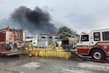 Two-alarm fire at Tomlinson recycling plant - StittsvilleCentral.ca