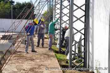 07/05 Ferro avanza con el sueño de techar su playón polideportivo - Deporte Tandilense