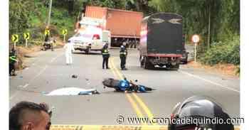Accidente en la vía Armenia-Calarcá dejó una persona muerta - La Cronica del Quindio