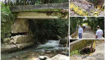 Comunidad espera pronta intervención en el puente La Sonadora en Calarcá - Caracol Radio