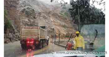 Por derrumbe, cerrada vía Calarcá-Cajamarca - La Cronica del Quindio