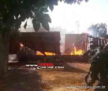Alta Floresta: Casa fica completamente destruída pelo fogo, na linha 45 - ROLNEWS