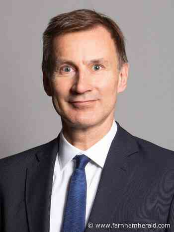 MP Jeremy Hunt: The tricky decisions regarding our health - Farnham Herald