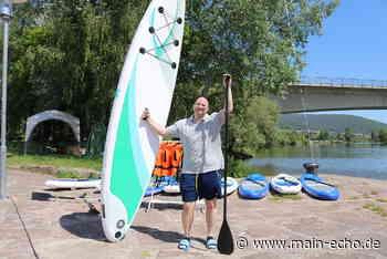 Stehend übers Wasser gleiten: Mit geliehenen Stand-up-Paddles in Lohr auf den Main - Main-Echo