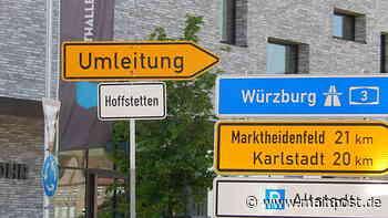 Lohr Hofstetten wird auf Umleitungsschild in Lohr zu Hoffstetten - Main-Post