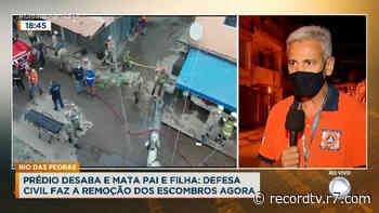 Equipes da Comlurb ajudam na retirada de escombros em Rio das Pedras - Record TV